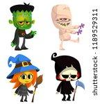 set of halloween characters.... | Shutterstock .eps vector #1189529311