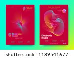 flyer of electronic music night ... | Shutterstock .eps vector #1189541677