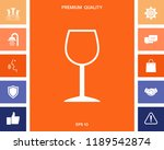 wineglass symbol icon | Shutterstock .eps vector #1189542874