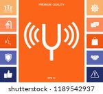 tuning fork icon | Shutterstock .eps vector #1189542937