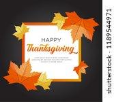 happy thanksgiving day... | Shutterstock .eps vector #1189544971
