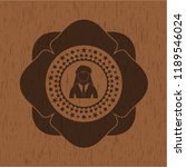 businesswoman icon inside wood... | Shutterstock .eps vector #1189546024