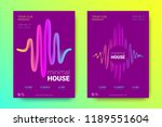 electronic music party poster...   Shutterstock .eps vector #1189551604