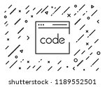 code writing icon with... | Shutterstock .eps vector #1189552501