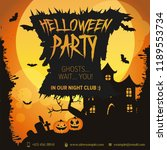 banner for halloween party | Shutterstock .eps vector #1189553734