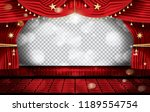 red stage curtain with seats... | Shutterstock .eps vector #1189554754