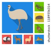 different animals flat icons in ... | Shutterstock . vector #1189556314