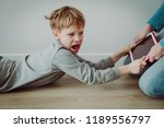 computer addiction  father... | Shutterstock . vector #1189556797