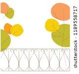 autumn park trees background.... | Shutterstock .eps vector #1189558717