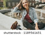 young pretty woman tourist in... | Shutterstock . vector #1189561651