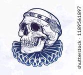 beautiful romantic skull with... | Shutterstock .eps vector #1189561897