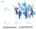 online chat  recruitment... | Shutterstock .eps vector #1189562707
