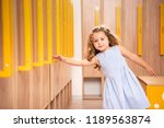 adorable kid standing in... | Shutterstock . vector #1189563874