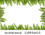 spruce branches  on a white... | Shutterstock . vector #118956415