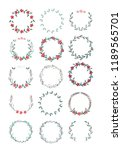 vector big collection of hand... | Shutterstock .eps vector #1189565701