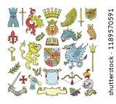 herald vector heraldic shield... | Shutterstock .eps vector #1189570591