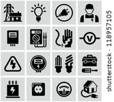 electricity icons | Shutterstock .eps vector #118957105