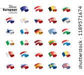 flags of the european union.... | Shutterstock .eps vector #1189571674