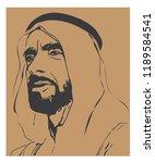 sheikh zayed   founder of...   Shutterstock .eps vector #1189584541