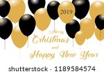 merry christmas and happy new... | Shutterstock .eps vector #1189584574