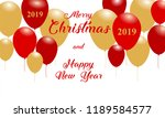 merry christmas and happy new... | Shutterstock .eps vector #1189584577