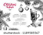 christmas menu. winter... | Shutterstock .eps vector #1189585567