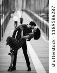 love story in new york. man and ... | Shutterstock . vector #1189586287
