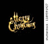 merry christmas text.... | Shutterstock .eps vector #1189591927