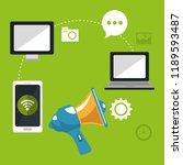 social media marketing icons | Shutterstock .eps vector #1189593487