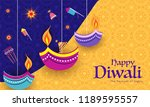 indian festival celebration... | Shutterstock .eps vector #1189595557