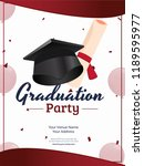 invitation card or template...   Shutterstock .eps vector #1189595977