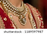 pakistani indian bridal showing ... | Shutterstock . vector #1189597987