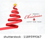 creative xmas tree made by red... | Shutterstock .eps vector #1189599367