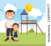father with son on park | Shutterstock .eps vector #1189599577