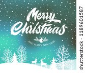merry christmas and happy new...   Shutterstock .eps vector #1189601587