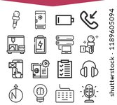 set of 16 technology outline... | Shutterstock .eps vector #1189605094