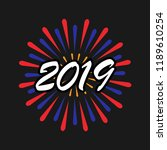 new year 2019. happy new year....   Shutterstock .eps vector #1189610254