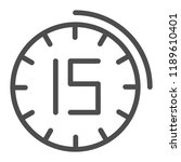 fifteen minutes watch line icon.... | Shutterstock .eps vector #1189610401