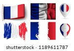 set of france flags collection... | Shutterstock .eps vector #1189611787