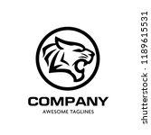 creative tiger head logo vector ... | Shutterstock .eps vector #1189615531