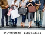 shopping group people | Shutterstock . vector #1189623181