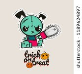 halloween stitch zombie puppy... | Shutterstock .eps vector #1189624897