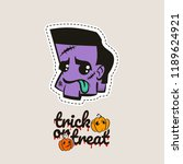 halloween stitch zombie head... | Shutterstock .eps vector #1189624921