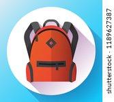 icon of red school school or...   Shutterstock .eps vector #1189627387