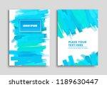 creative brush stroke... | Shutterstock .eps vector #1189630447