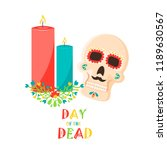 day of the dead poster  mexican ... | Shutterstock .eps vector #1189630567