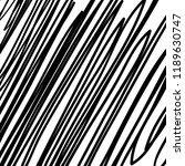 hand drawn black grunge... | Shutterstock .eps vector #1189630747