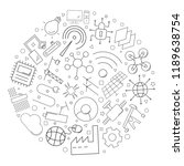 industry 4.0 circle background... | Shutterstock .eps vector #1189638754