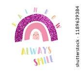 text rainbow smile baby girl...   Shutterstock .eps vector #1189639384