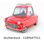 red retro car isolated on a... | Shutterstock . vector #1189647511